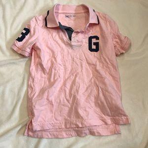 GAP pink short sleeve polo shirt